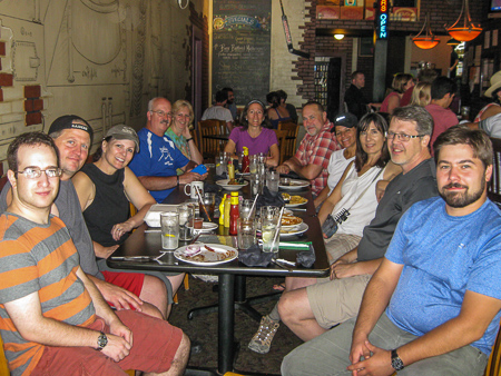 Post-hike celebration at Cumberland Brewery