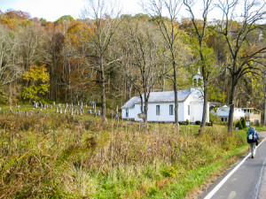 Approaching Road Fork Baptist Church