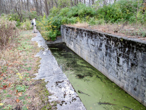 Remains of Lock 8 on the former Miami-Erie Canal
