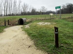 The BT goes under US 33 through a culvert