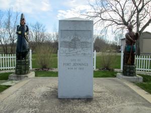 Monument at the site of Fort Jennings