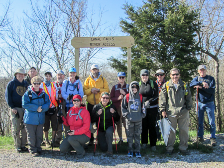 Group photo at the beginning of Jim's hike
