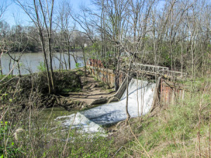 A dam on the Miami, Wabash, and Erie Canal outside of Florida
