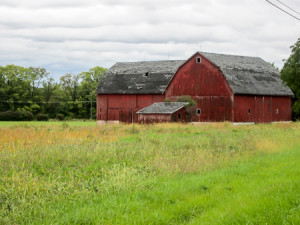 One of many beautiful barns we saw