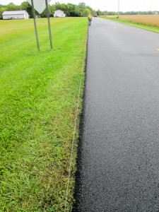 Nice edge on a newly-resurfaced road