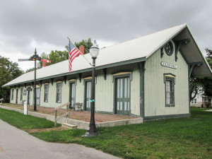 Historic train depot on the North Coast Inland Trail in Elmore