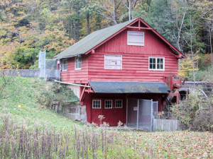 Historic mill and waterwheel at Richfield Heritage Preserve