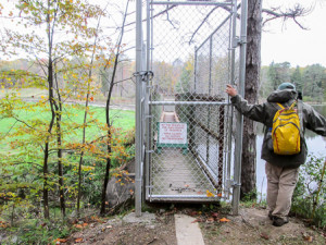Locked out of a bridge the BT uses in Richfield Heritage Preserve