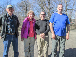George, Bonnie, CW, and Richard after completing 58.1 BT miles this week