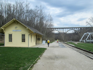 Brecksville RR Station is painted yellow to signify it is a modern depot. The original ones are red.